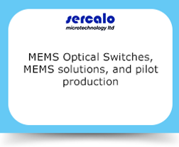 MEMS Optical Switches, MEMS solutions, and pilot production