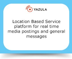 Location Based Service platform for real time media postings and general messages