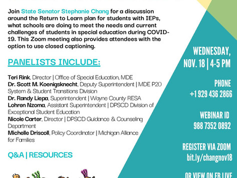 RESOURCE & CONVERSATION SERIES TOWN HALL: SPECIAL EDUCATION DURING COVID-19