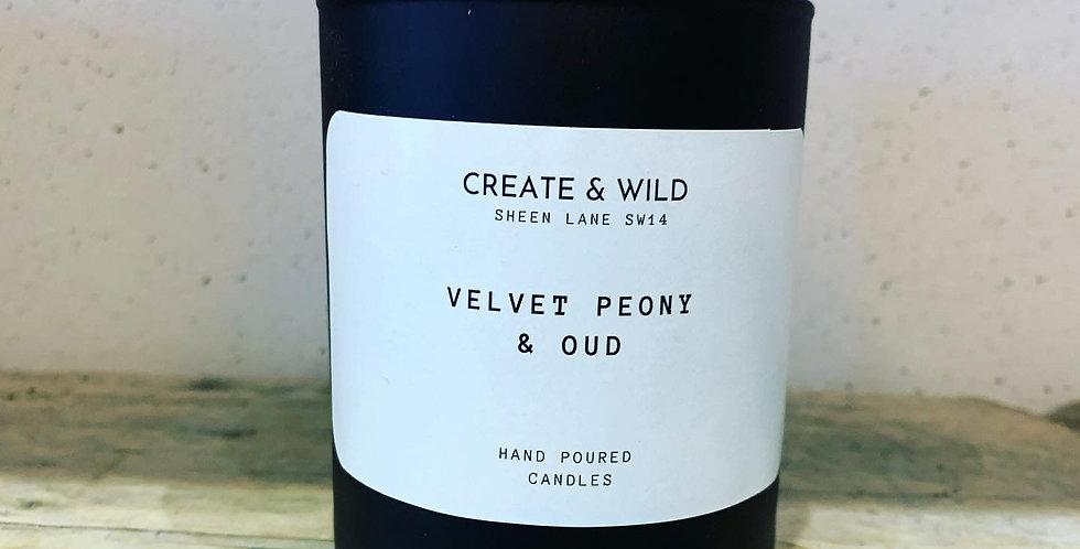 CREATE & WILD CANDLE, VELVET PEONY & OUD