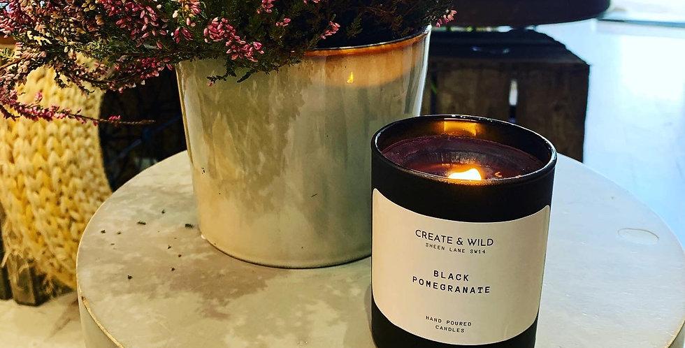 CREATE & WILD CANDLE, Black Pomegranate