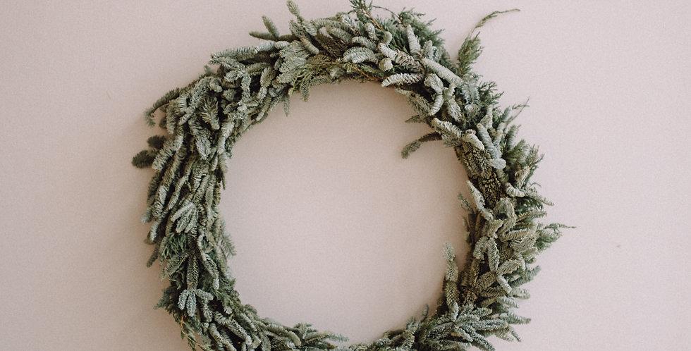Simple Green Spruce Fern Wreath