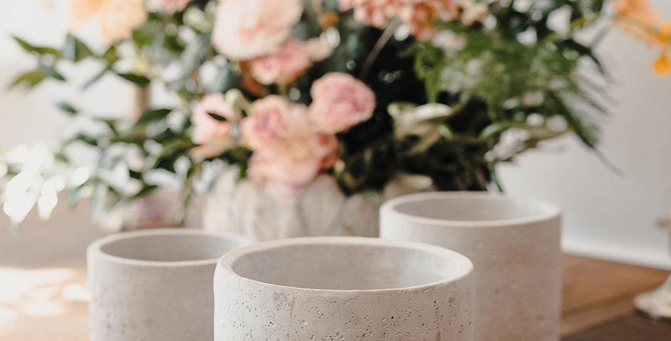 Grey Concrete Planter - Medium