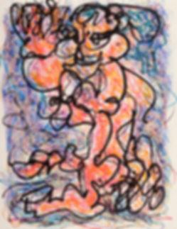 yvapurü painting, new york serie, oil pastels