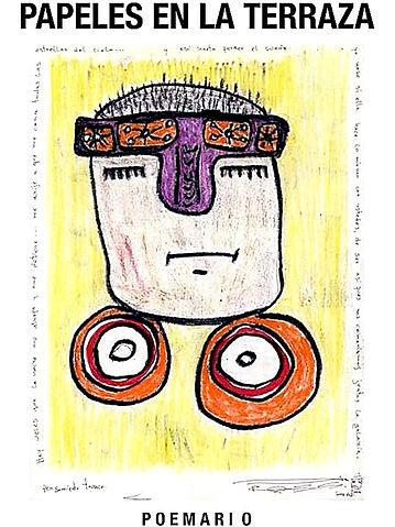 Art cover - Poem book, Papeles en la terraza.