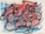 yvapurü painting, New York Serie - pastels