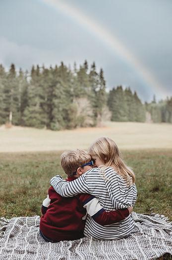sitting under the rainbow