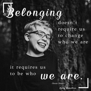 Belonging as we are...