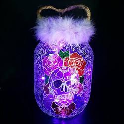 Lilac fluff sugar skull
