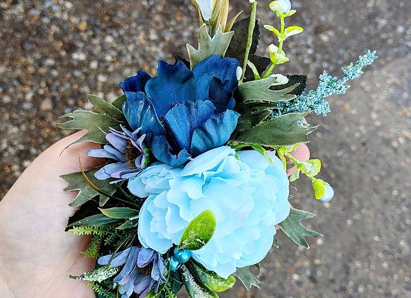 Blue Winter Corsage