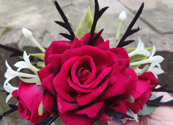 Velvet Rose Crown
