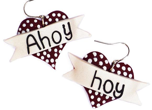 Ahoy Hoy Heart Earrings