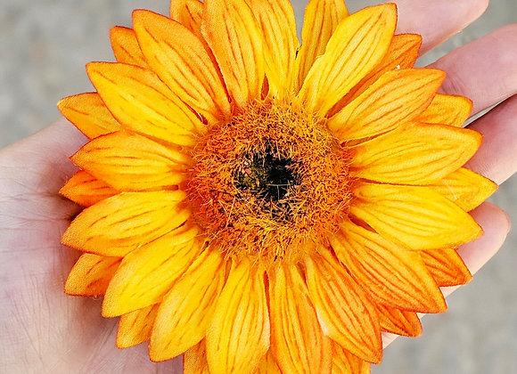 Single Sunflower Hair Flower