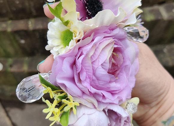 Lilac & Cream Hair Flower