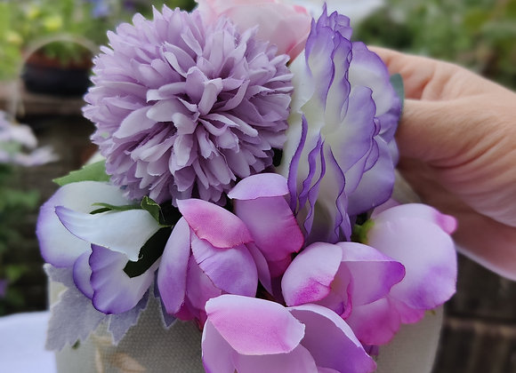 Lilac and pink wisteria hair flower