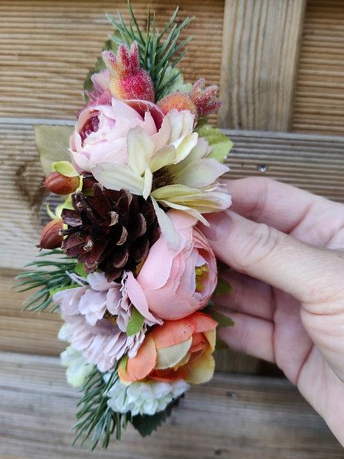 Pine Cone Hair Flower