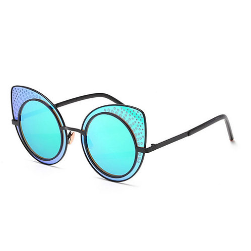 Mirrored Retro Sunglasses With Case