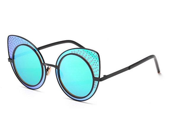 Mirrored Retro Sunglasses With Case