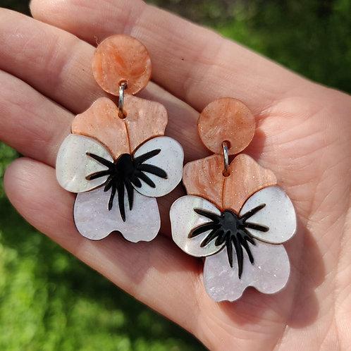 Viola Peach Earrings