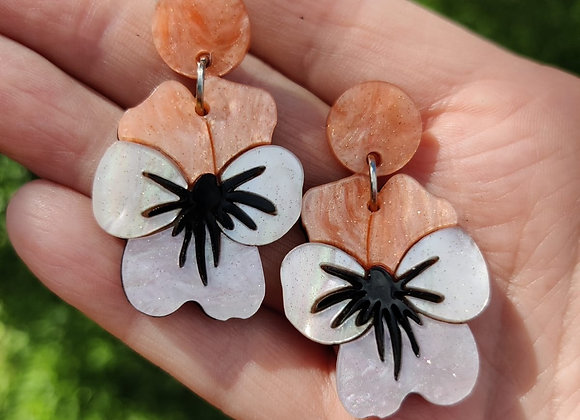Viola Peach Earrings