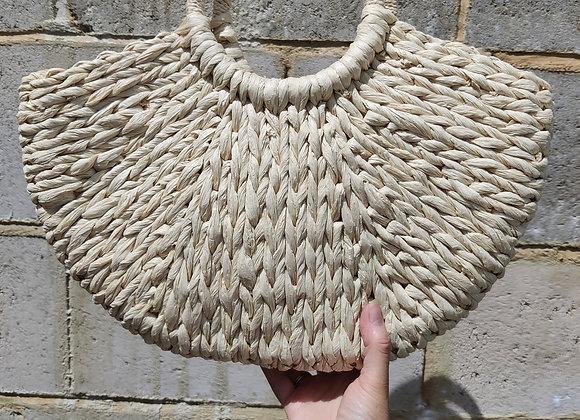 Cream straw bag
