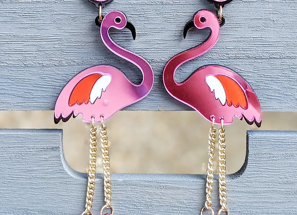 Mirrored Flamingo Earrings