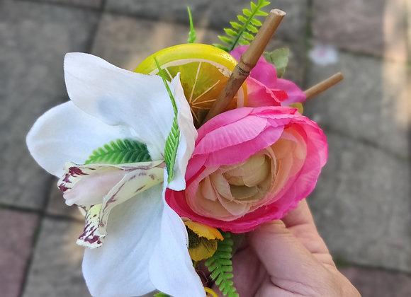 Lemon and ranunculus flower clip