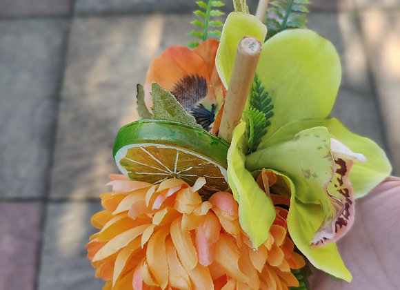 Lime and marigold hair clip