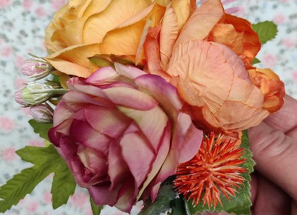 Peach Melba Hair Flower