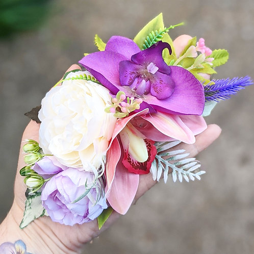 Pink, Purple & White Hair Flower