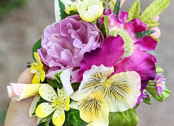 Yellow & Purple Hair Flower