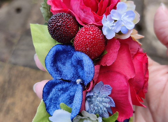 Red, white and blue hair clip