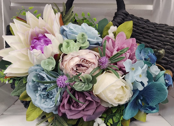 Waterlily Teal & Lilac Bag Corsage