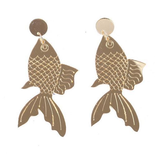 Metallic Goldfish Earrings