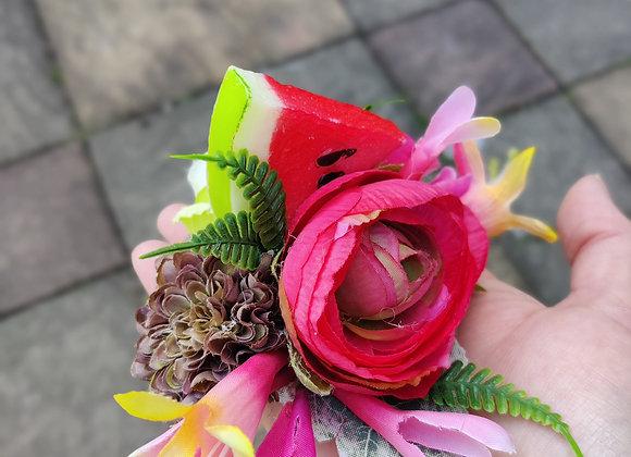Melon slice hair flower