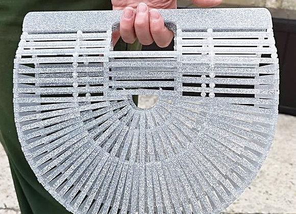 Silver Glitter Acrylic Ark Bag