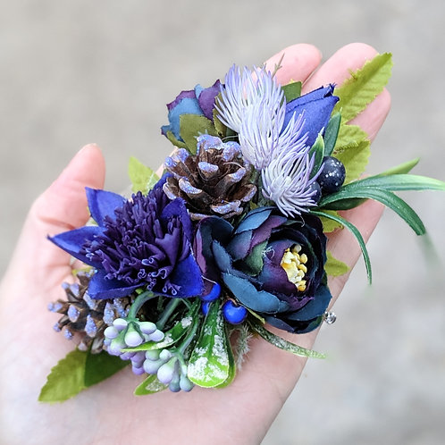 Blue & Green Corsage