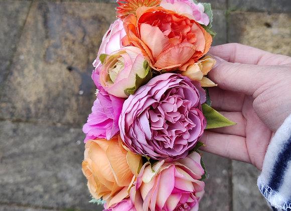 Pink, coral and orange hairflower