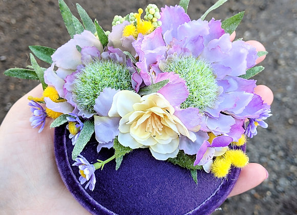 Purple & Yellow Fascinator