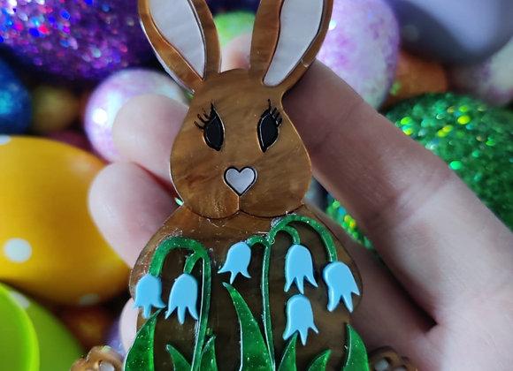 Bluebell Bunny Brooch
