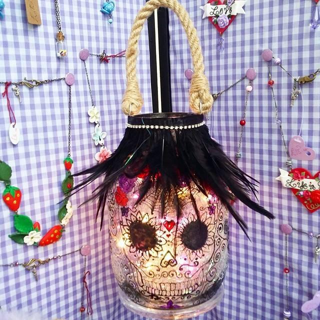 Glam goth sugar skull