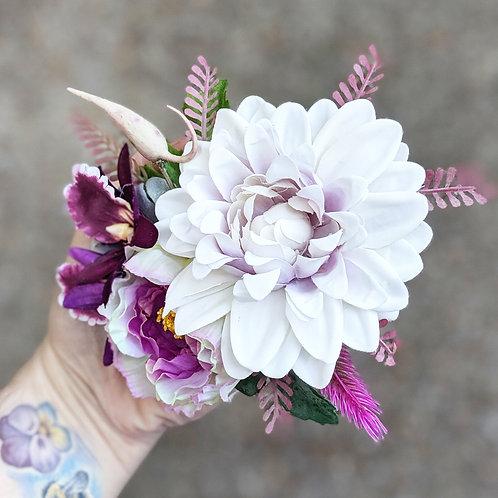 Purple & Pink Hair Flower