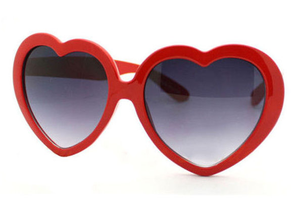 Heart Sunglasses With Case