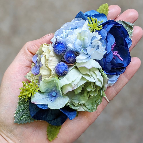 Blue & Green Hair Flower