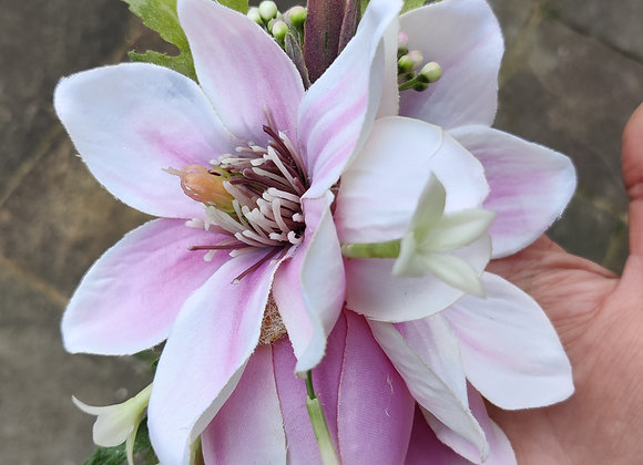 Pink Stripe magnolia hair flower