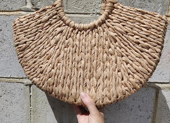 Natural straw bag base