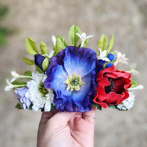 Red, White & Blue Hair Flower / Crown