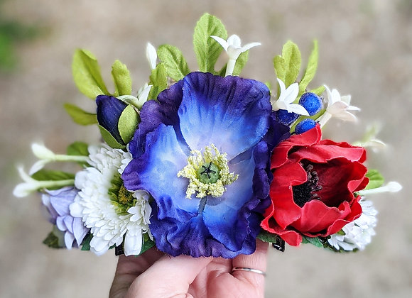 Red, White & Blue Hair Flower / Crown