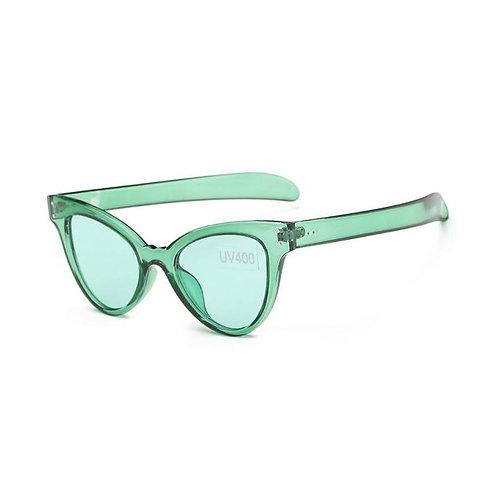 Transparent Retro Frame Sunglasses With Case