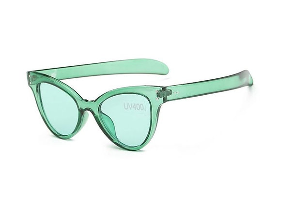 Transparent Retro Frame Sunglasses With Case